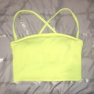 Small Bright Yellow Aerie Bandeau Top